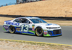 June 22, 2018 - Sonoma, CA, U.S. - SONOMA, CA - JUNE 22:  Ty Dillon, driving the #(13) Chevrolet for Germain Racing head into turn 10 on Friday, June 22, 2018 at the Toyota/Save Mart 350 Practice day at Sonoma Raceway, Sonoma, CA (Photo by Douglas Stringer/Icon Sportswire) (Credit Image: © Douglas Stringer/Icon SMI via ZUMA Press)