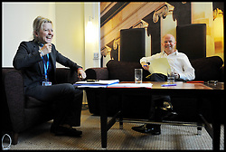 Foreign Secretary William Hague shares a joke with his advisor  Conference with her advisors walks on stage at the Conservative Party Conference in Manchester, Sunday October 2,  2011 Photo By Andrew Parsons/ i-ImagesForeign Secretary William Hague shares a joke with his advisor ARMINKA HELIC in his room while working on his speech at the Conservative Party Conference in Manchester, Sunday October 2,  2011 Photo By Andrew Parsons/ i-Images