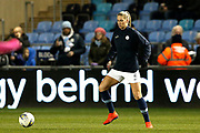 Manchester City defender  Gemma Bonner warming up during the FA Women's Super League match between Manchester City Women and Everton Women at the Sport City Academy Stadium, Manchester, United Kingdom on 20 February 2019.