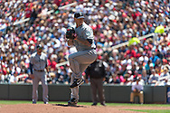 Jeremy Bonderman #32 of the Seattle Mariners pitches against the Minnesota Twins on June 2, 2013 at Target Field in Minneapolis, Minnesota.  The Twins defeated the Mariners 10 to 0.  Photo: Ben Krause