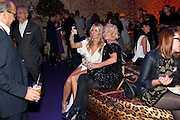 TOUKER SULEYMAN; MELISSA ODABASH; AMANDA ELIASCH;, Dinner and party  to celebrate the launch of the new Cavalli Store at the Battersea Power station. London. 17 September 2011. <br /> <br />  , -DO NOT ARCHIVE-© Copyright Photograph by Dafydd Jones. 248 Clapham Rd. London SW9 0PZ. Tel 0207 820 0771. www.dafjones.com.