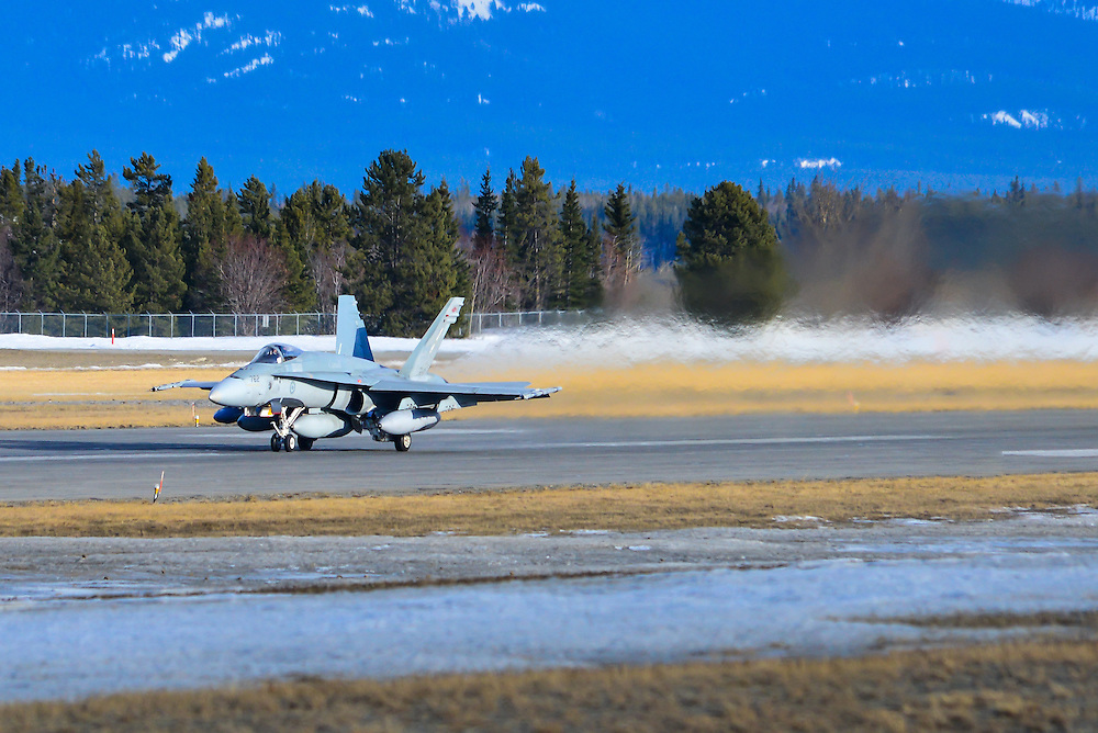 RCAF CF-18 Hornet on take-off roll