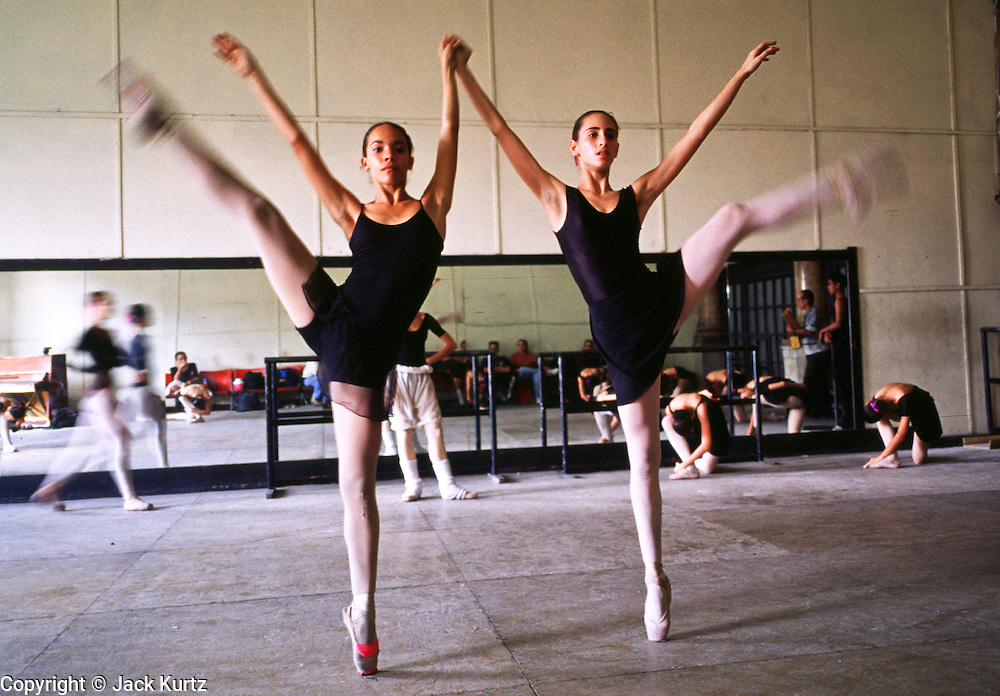 HAVANA, CUBA: Ballet class at the Cuban National Ballet, March, 2000. Cuba is renowned for its outstanding arts and cultural educational facilities. Photo by Jack Kurtz