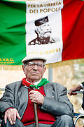 Rome apr 25th 2015, 70° anniversary of the liberation from nazism and fascism, demo in Piazzale Ostiense, the place were begin the Resistance in Rome. In the picture an old partizan - © PIERPAOLO SCAVUZZO