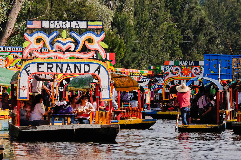 Gondolas on the Xochimilco canals