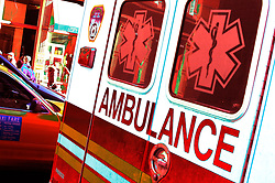 Ambulance, medical symbol, Abstract design image safety insurance help assistance accident scene