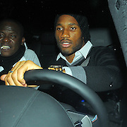 17.DEC.2009.  LONDON<br /> <br /> CHELSEA FOOTBALLER DIDIER DROGBA LEAVING WHISKEY MIST NIGHT CLUB IN MAYFAIR LONDON.<br /> <br /> BYLINE: EDBIMAGEARCHIVE.COM<br /> <br /> *THIS IMAGE IS STRICTLY FOR UK NEWSPAPERS & MAGAZINES ONLY*<br /> *FOR WORLDWIDE SALES & WEB USE PLEASE CONTACT EDBIMAGEARCHIVE-0208 954 5968*