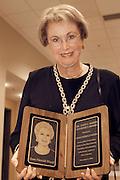 Baker award: Joan Wood Gets award at Walter Hall Firday night..11/5/04..Photo by Sunghyun Jun