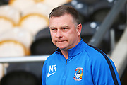 Coventry City Manager Mark Robins arrives at the Pirelli Stadium during the EFL Sky Bet League 1 match between Burton Albion and Coventry City at the Pirelli Stadium, Burton upon Trent, England on 17 November 2018.