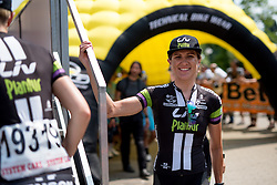 Carlee Taylor (Liv Plantur) makes her way to sign in at the final stage of the Giro Rosa 2016 on 10th July 2016. A 104km road race starting and finishing in Verbania, Italy.