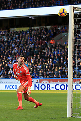 4th November 2017 - Premier League - Huddersfield Town v West Bromwich Albion - West Brom goalkeeper Ben Foster watches the ball float into the top corner of the net for Huddersfield's 1st goal, scored by Rajiv van La Parra of Huddersfield (not pictured) - Photo: Simon Stacpoole / Offside.