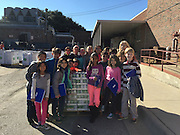 West University ES students collecting food for the 2016 Souper Bowl of Caring
