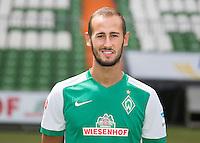 German Soccer Bundesliga 2015/16 - Photocall of Werder Bremen on 10 July 2015 in Bremen, Germany: Alejandro Galvez