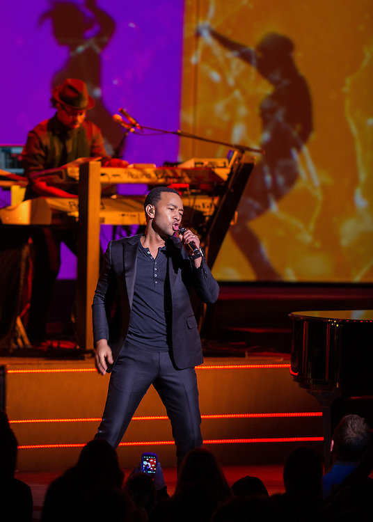 """John Legend performs at the Paramount Theatre in Seattle on his """"Made to Love tour."""" Photo by John Lill"""