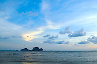 Sunset over the Andaman Sea Koh Poda island seen from Tonsai beach Southern Thailand&#xA;<br />