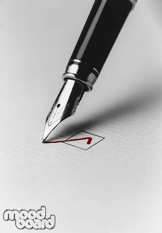 Pen Checking Box