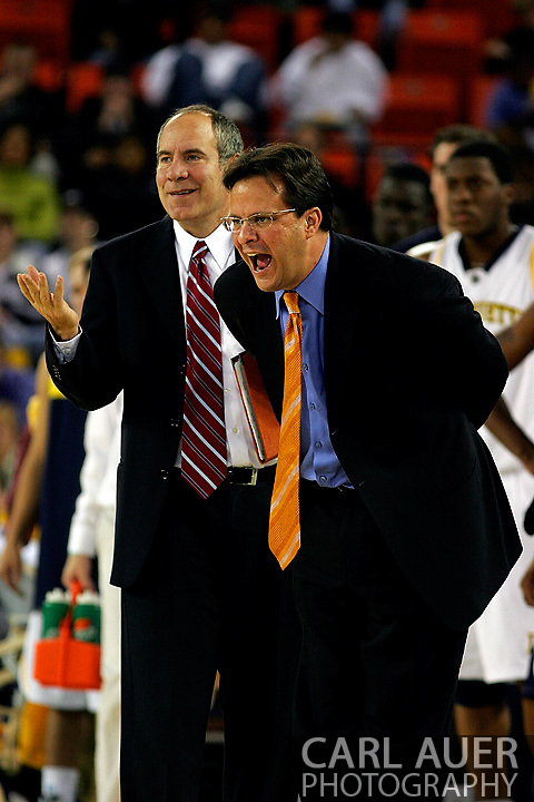 25 November 2005:  Marquette head coach Tom Crean in his Golden Eagles 73-70 victory over Oral Roberts University at the Great Alaska Shootout in Anchorage, Alaska