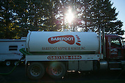 One of Barefoot Septic's pump trucks in Scottsville, New York on Monday, October 12, 2015. Barefoot Septic & Sewer is a family-owned business, and was established in 1961.