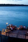 Tibau do Sul_RN, Brasil...Na foto, turistas em creperia na beira da Lagoas das Guarairas em Tibau do Sul, Rio Grande do Norte...Tourists near Guarairas lake in Tibau do Sul, Rio Grande do Norte...Foto: LEO DRUMOND / NITRO