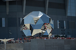 Fans prior to the Chick-fil-A Kickoff Game at the Mercedes-Benz Stadium, Saturday, August 31, 2019, in Atlanta. (Vasha Hunt via Abell Images for Chick-fil-A Kickoff)