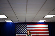Republican presidential candidate Rep. Michele Bachmann speaks at a campaign stop in Storm Lake, Iowa, July 31, 2011.