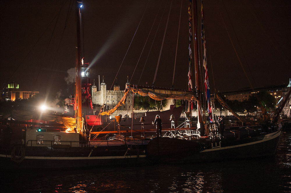 An armada of historic vessels from the age of sail, steam and diesel  performed a live, moving, operatic concerto of ships' steam whistles, bells, horns, hooters, sirens and cannon as the centrepiece of the 2013 Thames Festival.