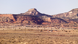 Landscape along Historic Route 66 in Western New Mexico. West of the Continental Divide