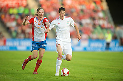 OSLO, NORWAY - Wednesday, August 5, 2009: Liverpool's Martin Kelly in action against FC Lyn Oslo during a preseason match at the Bislett Stadion. (Pic by David Rawcliffe/Propaganda)