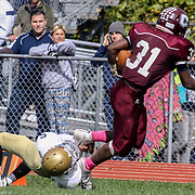 Concord Running Back Brandon Dennis (31) breaks a 52 yard run for a touchdown Saturday, Oct. 17, 2015 at Concord Stadium in Wilmington.