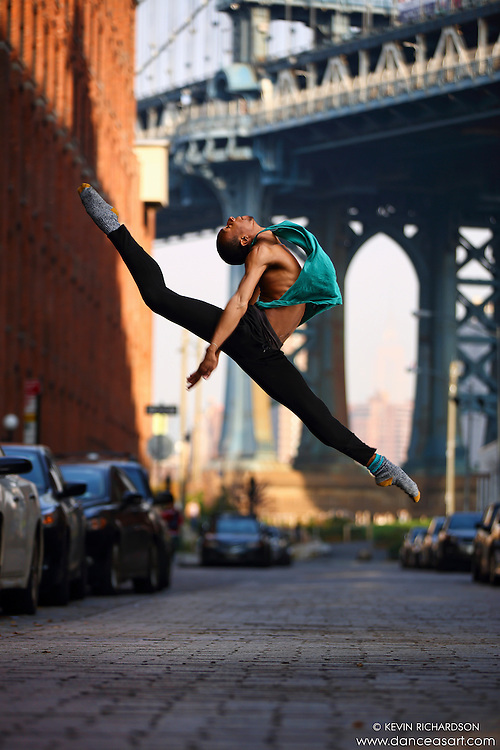 Dance As Art Streets of Dumbo Series with dancer Daniel White