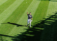 CLEVELAND, OH USA - JULY 6: New York Yankees pitcher Hector Noesi tosses a ball into the stands before the game between the Cleveland Indians and the New York Yankees at Progressive Field in Cleveland, OH, USA on Wednesday, July 6, 2011.