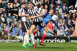 George Cooper of Peterborough United shoots at goal against Rochdale - Mandatory by-line: Joe Dent/JMP - 14/04/2018 - FOOTBALL - ABAX Stadium - Peterborough, England - Peterborough United v Rochdale - Sky Bet League One