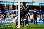 Fulham (8) Stefan Johansen, celebrate goal  during the EFL Sky Bet Championship match between Queens Park Rangers and Fulham at the Loftus Road Stadium, London, England on 29 September 2017. Photo by Sebastian Frej.