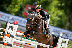 SCHULZE TOPPHOFF Philipp (GER), ALPHAJET DB<br /> Münster - Turnier der Sieger 2019<br /> Preis des EINRICHTUNGSHAUS OSTERMANN, WITTEN<br /> CSI4* - Int. Jumping competition  (1.45 m) - <br /> 1. Qualifikation Mittlere Tour<br /> Medium Tour<br /> 02. August 2019<br /> © www.sportfotos-lafrentz.de/Stefan Lafrentz