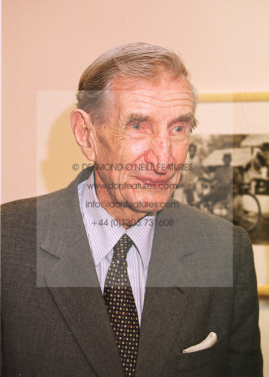 Explorer SIR WILFRED THESIGER at an exhibition in London on 20th May 1998.<br /> MHT 6