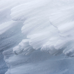 Rime ice on the summit of Mount Washington in New Hampshire's White Mountains.