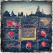 Americana.<br /> <br /> Lobster traps, Acadia, Maine.