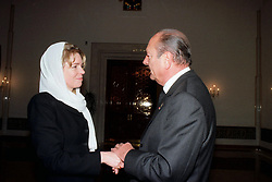 Queen Noor of Jordan receives Jacques Chirac during King Hussein's funeral at the Royal palace in Amman, Jordan on February 8, 1999. Twenty years ago, end of January and early February 1999, the Kingdom of Jordan witnessed a change of power as the late King Hussein came back from the United States of America to change his Crown Prince, only two weeks before he passed away. Photo by Balkis Press/ABACAPRESS.COM