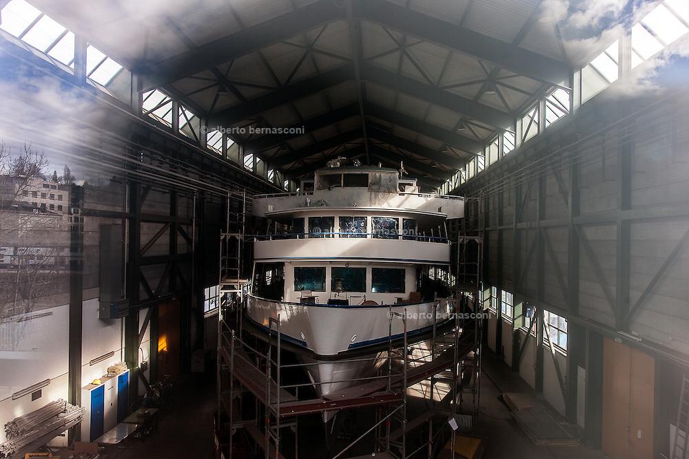 Switzerland, Zurich: shipyard