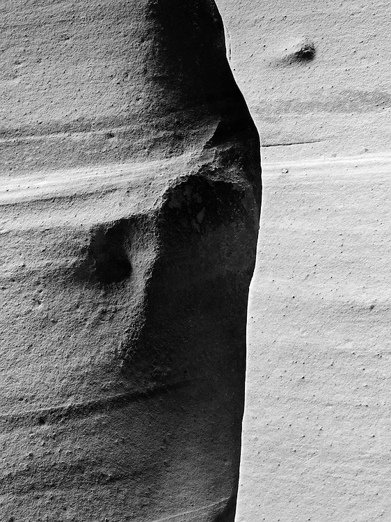 View of the sidewall of Zebra Slot Canyon, along Harris Wash, Grand Staircase-Escalante National Monument, near Escalante, Utah.