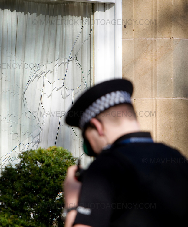 "The Edinburgh home of former Royal Bank of Scotland boss Sir Fred Goodwin has been attacked by vandals.  Windows were smashed and a Mercedes S600 car parked in the driveway was vandalised.  Police said they were investigating these claims as part of their inquiry, adding that they took planned attacks ""very seriously""."