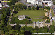 aerial photograph of  Cardiff Castle Wales UK