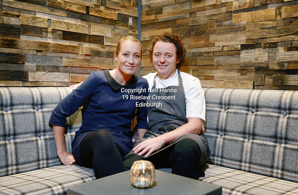 JP License<br /> <br /> <br /> One of the UK&rsquo;s leading restaurants has reopened its doors following a major refurbishment and expansion.  Celebrity Chef Tom Kitchin will prepare to welcome his first guests on Friday 23rd January, as he reveals the much anticipated developments at Michelin star restaurant The Kitchin, in Leith Edinburgh.<br /> <br /> <br /> <br /> Restaurant The Kitchin - led by Chef Tom Kitchin, his wife Michaela and their award-winning team - has become a firm favourite with locals, as well as visitors from across the world, since it opened in June 2006.  The doors will re-open this week, revealing an extended dining space, an exclusive private dining room, a distinctive whisky snug and a temperature controlled wine cellar, as well as an expanded kitchen and a new butchery area for Tom and his team of chefs. <br /> <br /> Michaela &amp; Tom in the whisky snug<br /> <br />  Neil Hanna Photography<br /> www.neilhannaphotography.co.uk<br /> 07702 246823