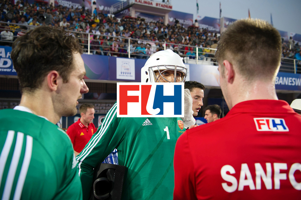 Odisha Men's Hockey World League Final Bhubaneswar 2017<br /> Match id:01<br /> Germany v England<br /> Foto: keeper George Pinner (Eng) keeper Harry Gibson (Eng) (l) <br /> WORLDSPORTPICS COPYRIGHT FRANK UIJLENBROEK