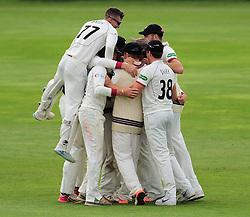 Somerset celebrate victory.  - Mandatory by-line: Alex Davidson/JMP - 22/09/2016 - CRICKET - Cooper Associates County Ground - Taunton, United Kingdom - Somerset v Nottinghamshire - Specsavers County Championship Division One