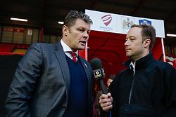 Bristol City Manager Steve Cotterill is interviewed by TalkSport after Bristol City lose 0-1 - Photo mandatory by-line: Rogan Thomson/JMP - 07966 386802 - 25/01/2015 - SPORT - FOOTBALL - Bristol, England - Ashton Gate Stadium - Bristol City v West Ham United - FA Cup Fourth Round Proper.