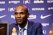 Eric Abidal of FC Barcelona at the presentation of Arthur Melo from Brazil on July 11, 2018 at Camp Nou stadium in Barcelona, Spain - Photo Xavier Bonilla / Spain ProSportsImages / DPPI / ProSportsImages / DPPI