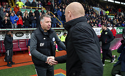 Peterborough United Manager Darren Ferguson greets Burnley manager Sean Dyche before the match - Mandatory by-line: Joe Dent/JMP - 04/01/2020 - FOOTBALL - Turf Moor - Burnley, England - Burnley v Peterborough United - Emirates FA Cup third round