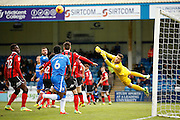Gillingham come close to an opener from an early freekick during the EFL Sky Bet League 1 match between Gillingham and Shrewsbury Town at the MEMS Priestfield Stadium, Gillingham, England on 28 January 2017. Photo by Andy Walter.