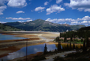 USA, Colorado, Climax. The remnants of the mining process in the Colorado high country.